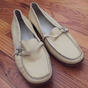 BURBERRY, Pale Yellow Loafers
